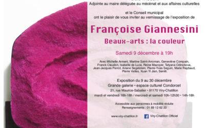 Reine Mazoyer participe à l'exposition de Françoise Giannesini «La couleur» à Viry-Chatillon du 9 au 30 décembre 2017